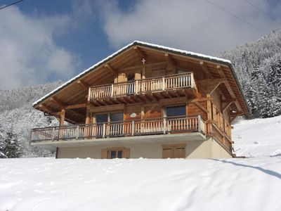Photo for Luxury Chalet at the Edge of a Charming Mountain Village