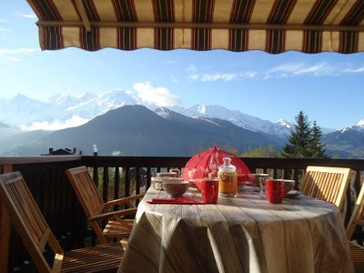 Photo for GITE WITH SAUNA MAGNIFICENT VIEW ON THE MONT BLANC + NEEDLE MIDI