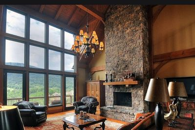 Turn on Fireplace with a flick of the switch in living room