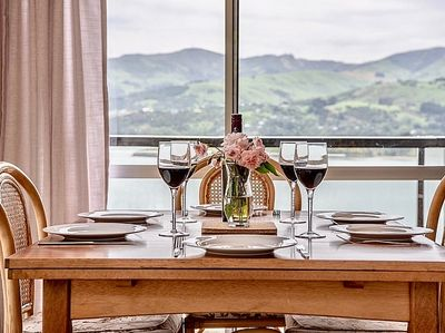 Enjoy a family meal with these amazing views