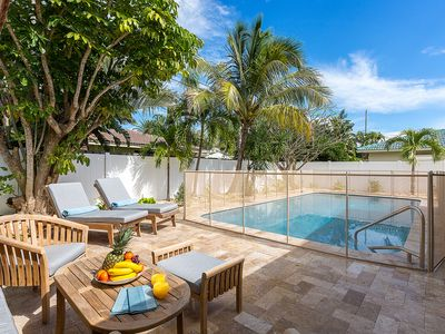 Photo for ULTIMATE FAMILY HOME. Pool gate, children toys.BBQ grill. Modern and relaxing