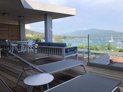 Photo for 4-Large apartment on the beach, in a new luxury residence in Porto Pollo
