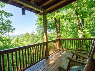 Photo for Dog-friendly cabin w/ furnished deck, private hot tub, & paved road access!