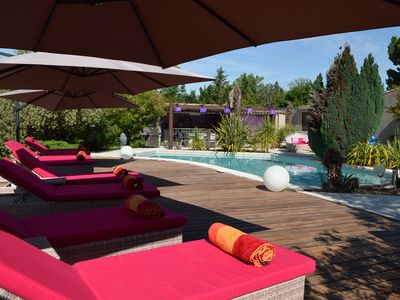 Photo for Independent studio in beautiful villa with pool