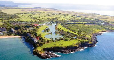 Photo for On KALAPAKI Cliff **PALI NUI apt** Marriott RESORT USE Great BEACH & BAY View