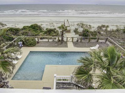 Photo for 714 Ocean Blvd - Oceanfront Home with Incredible Views, Large Pool and Private Boardwalk to Beach