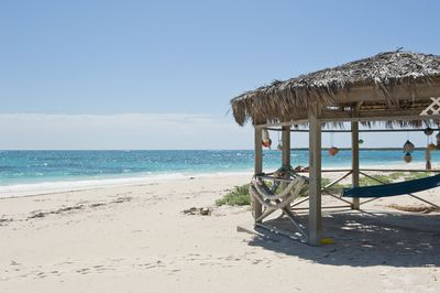 Our beach and palapa