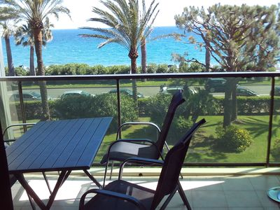 Photo for F3 air-conditioned, wifi, waterfront panoramic view secured private parking