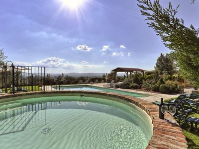 Photo for Fasciano Apartment, Sleeps 8 with Pool
