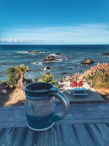 Relax with a hot cup of coffee each morning while taking in this view!