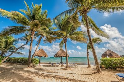 Paradise is found at La Bahia with it's soft sandy beach and endless views!