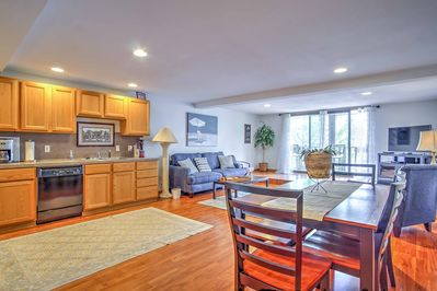 The open living space is ideal for making sure no one misses out on the fun.