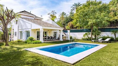Photo for Beautiful Villa Set In Own Garden With Pool And Covered Terrace with barbeque.