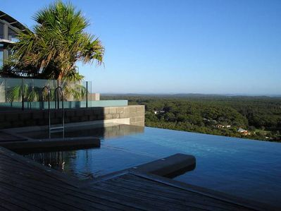 One Mile Ridge pool with stunning views