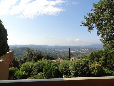 Photo for Apartment Grasse (30 'Cannes and Nice), sea view, swimming pool, wifi