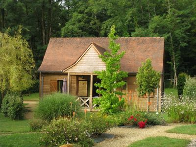 Photo for Comfortable wooden cottage around a pool - RENT SUNDAY / SUNDAY
