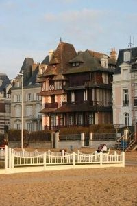 Photo for Charming apartment in a beautiful beachfront mansion for Trouville