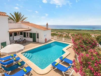 Photo for Idyllic villa w/ pool and terrace minutes' drive from the resort town