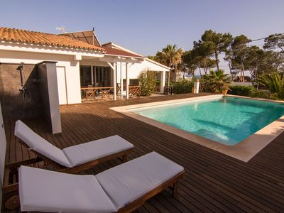 Photo for PRIVATE SPHERE with sea views, salt water pool 50 sqm, Wi-Fi, air conditioning, barbecue