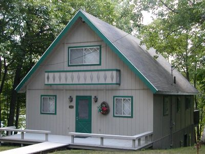 Photo for This Northern Michigan Chalet Sleeps 12, Located on Private Kassuba Lake