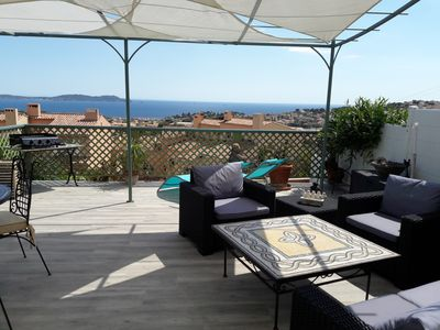 Photo for Terraced villa with sea view 4 pers. Terrace. Great comfort.