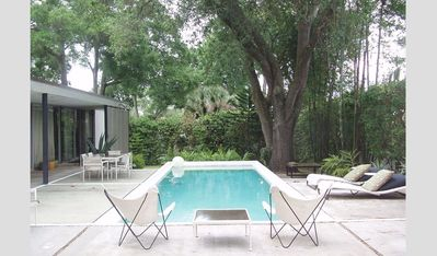Photo for mid century modern authors architectural pool home now with pool heat!
