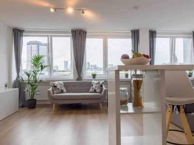 Photo for Business apartment overlooking the Essen skyline