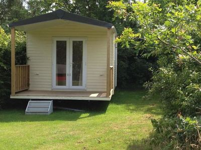 Photo for Cosy lodge in a beautiful area and in a holiday park with many facilities.