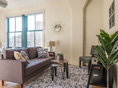 Photo for Cozy Historic Loft w/ Gym | Minutes to Anywhere