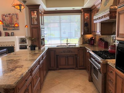 Chef's Dream Kitchen.  Everything you would ever need to create a wonderful meal
