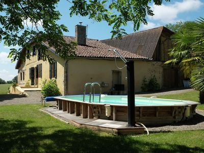 Photo for farmhouse with private swimming pool and garden in the surroundings of the Gers