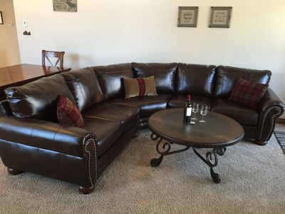 Photo for Prime Location! 2BR Plus Private Hot Tub, Garage, Fireplace & Washer/Dryer