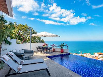 Photo for BAY VIEWS, LUXURY HILLSIDE VILLA