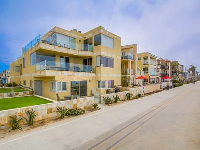Photo for Wonderful Ground Floor Ocean Front Two Bedroom with Large Patio On Boardwalk