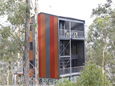 Photo for Tree House #4 Red,Private three levelled building with BBQ ,Smart TV, kitchen