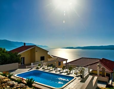 Photo for VILLA MASLINA, with private 32m2Pool, panoramic views on 100km coastline, 12 pax