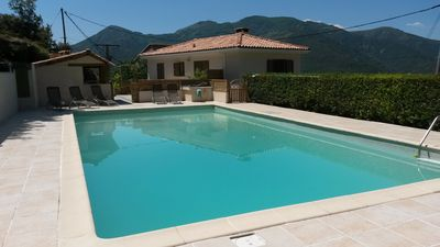 Photo for independent stone village house with pool in San lorenzo.