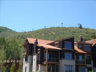 Great Location 100yds to Silver Star Lift (condo in photo is Silver Star)