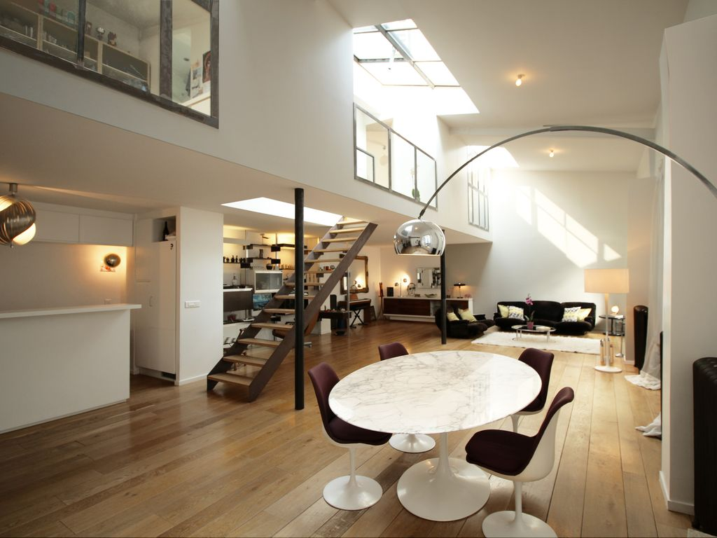 Large Loft In Paris Private Courtyard Very Bright