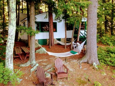 Photo for Camp on Meredith Bay 90FT Lake Winnipesaukee, Sandy Beach, Dock, Swim Raft