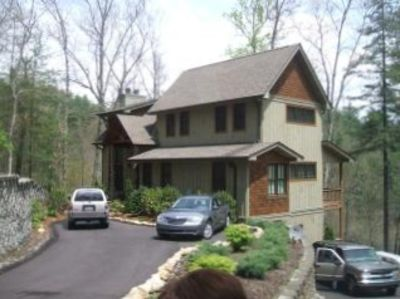 New Mountain Lodge with Stream and Lake Glenville View