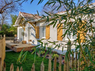 Photo for New house in Andernos 5 minutes from the Bassin d'Arcachon large wooden terrace