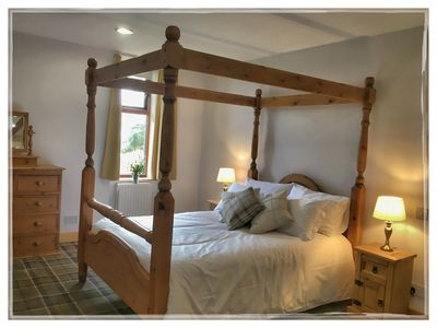 Master Bedroom with amazing views over Loch Nevis.