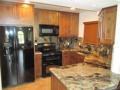 Full Kitchen with Granite, Double oven, Micro and Dishwasher. Alder Cabinets.