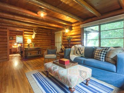 Photo for Enchanting log cabin in historic Harrison - close to outdoor fun!