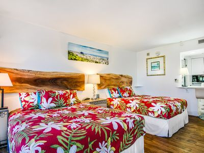 Photo for Comfort & Accessibility to Everything in Waikiki! 2 Queen Beds, Pool & Parking!