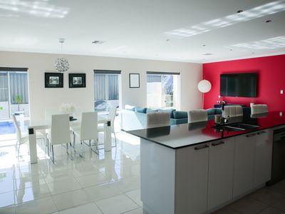 Photo for Happy Stays modern home with pool
