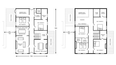 Accomodation covers 450 sq metres providing space for friends or family