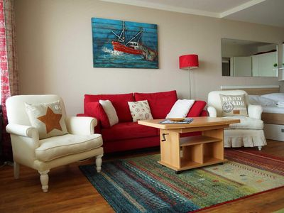 Photo for 544 - cute apartment on the sunny side with sea view - 544 Küstenkieker 1-room apartment