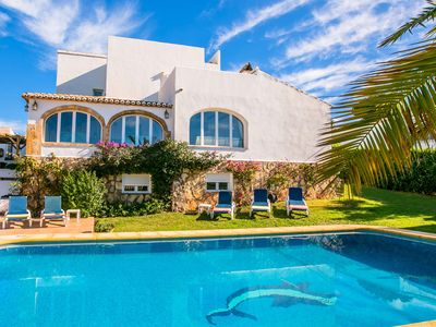 Photo for Luxury villa in large garden, large private pool, close to Javea, A/C, wifi